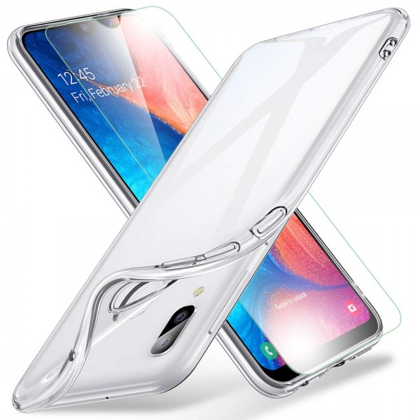 MMOBIEL Screenprotector en Siliconen TPU Beschermhoes voor Samsung Galaxy A20e A202 2019 - 6.4 inch