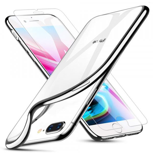 MMOBIEL Screenprotector en Siliconen TPU Beschermhoes voor iPhone 7 Plus - 5.5 inch