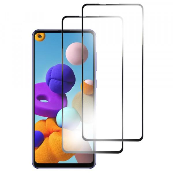 MMOBIEL 2-Pack Displayschutzfolie aus gehärtetem Glas für Samsung Galaxy A21S A217 6.5 inch 2020 - Panzerglas – Temperglas - Inklusive Reinigungsset