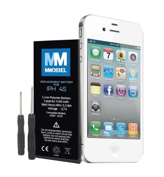 MMOBIEL Akku für iPhone 4S inkl Werkzeug + Anleitung | Batterie mit 0-Ladezyklen