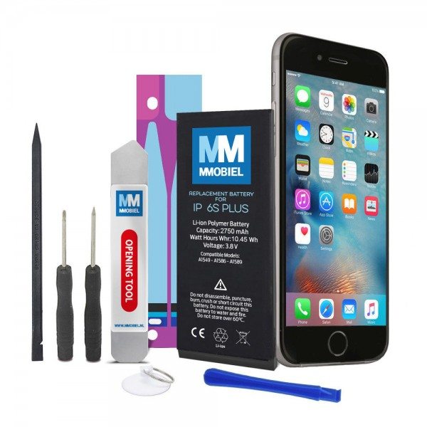 Battery for iPhone 6 Plus Li-Ion Battery 3.82V 2915mAh 6.9W incl. Toolkit