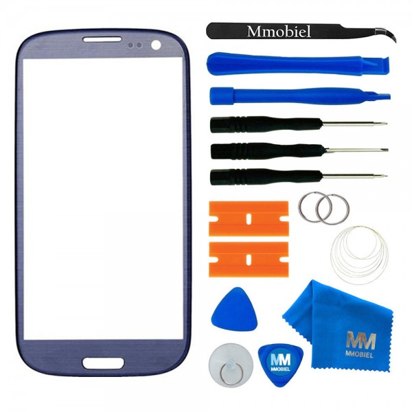 Front Glass for Samsung Galaxy S3 - S3 Neo (Blue) Display Touchscreen