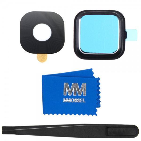 MMOBIEL Glas Lens Back Camera voor Samsung Galaxy Note 4 N910 (ZWART) - inclusief Pincet en Doekje