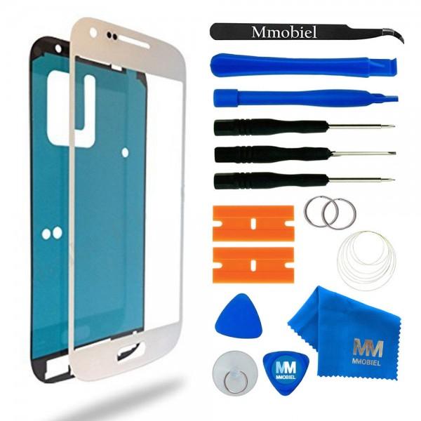 Front Glas Reparatur Set für Samsung Galaxy S4 (WEISS) Display+Werkzeug