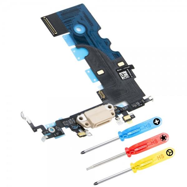 Dock Connector für iPhone 8 (GOLD) Ladebusche Ladeport + Werkzeug