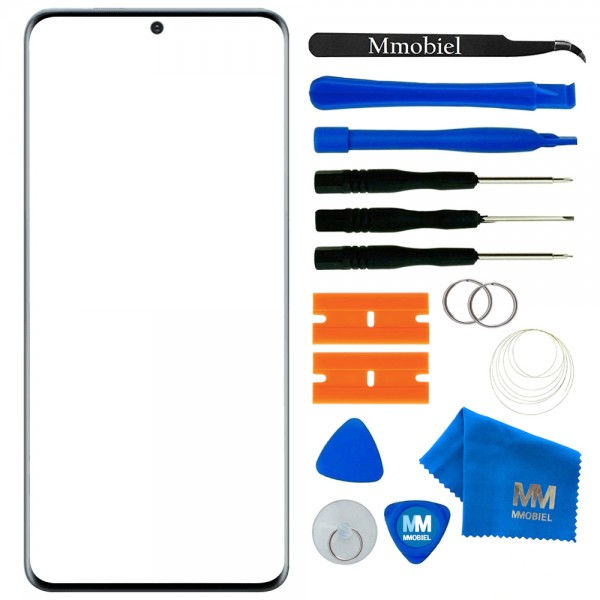 MMOBIEL Front Glas Scherm voor Samsung Galaxy S20 Plus SM G985 6.7 inch 2020 (Zwart)