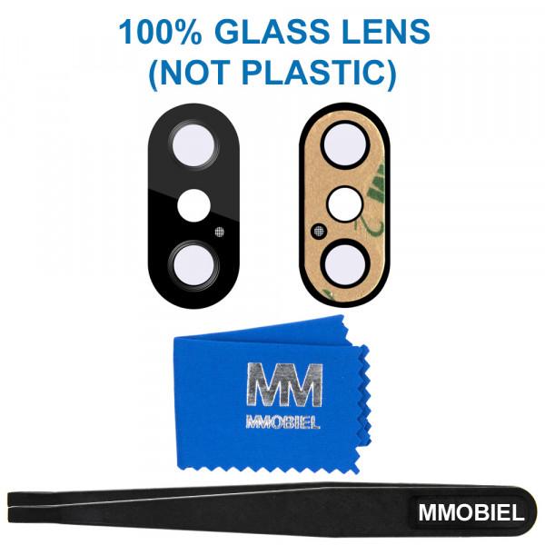 MMOBIEL Glas Lens Back Camera voor iPhone X (ZWART) - inclusief Pincet en Doekje