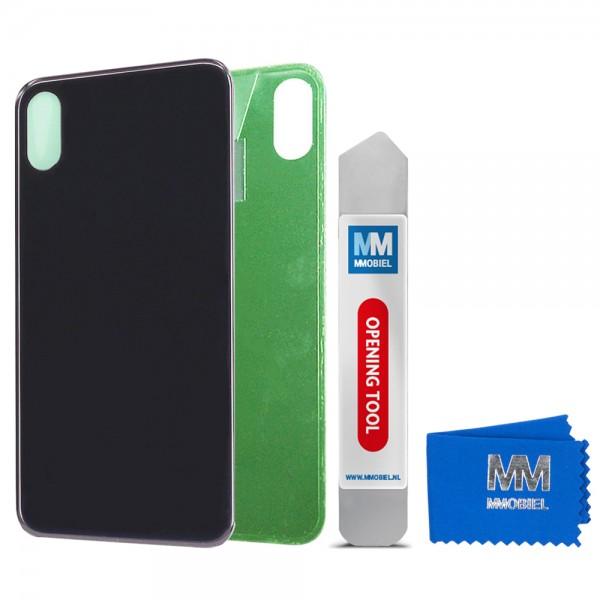Akkudeckel Ersatz Back Cover Batterie Gehäuse für iPhone X (SCHWARZ) 5.8 inch