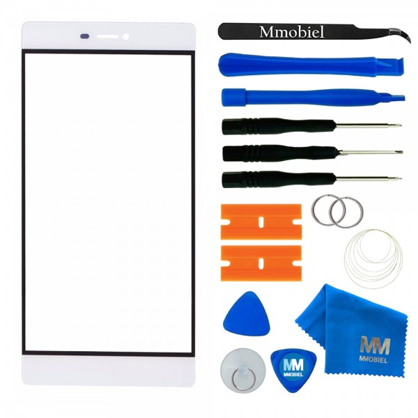Front Glass for Huawei P8 5.2 Inch (White) Display Touchscreen incl. Toolkit