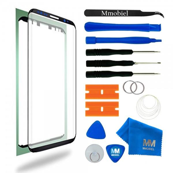 Front Glas Reparatur Set für Samsung Galaxy S8 (SCHWARZ) Display+Werkzeug