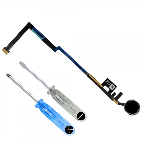 Home Button Flex Cable for iPad 6 2018 - iPad 5 2017 (Black) incl. Toolkit