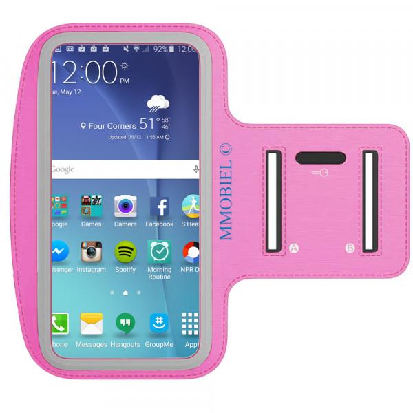 Sportband für Samsung S10 + / S9 + / S8 + / S7 Edge / Note 9 / J7 / J6 + (ROSA)