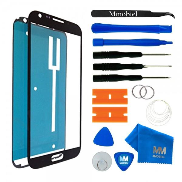 Front Glas Reparatur Set für Samsung Galaxy Note 2 (SCHWARZ) Display+Werkzeug