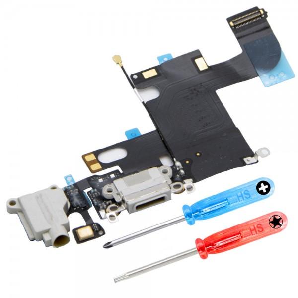 Dock Connector für iPhone 6S (WEISS) Ladebuchse Ladeport + Werkzeug