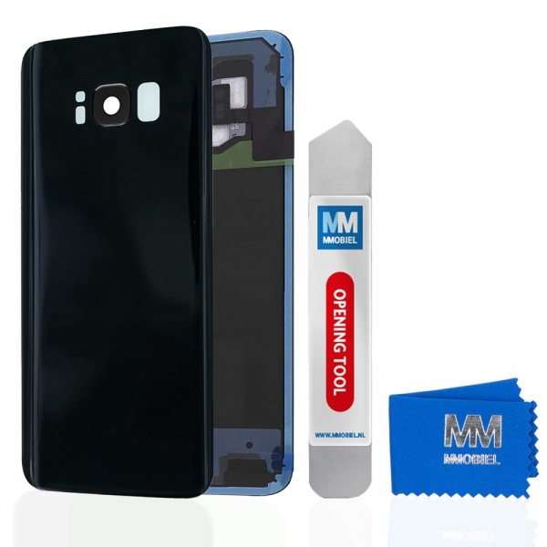 Akkudeckel mit Linse für Samsung Galaxy S8 Plus G955 SCHWARZ Backcover