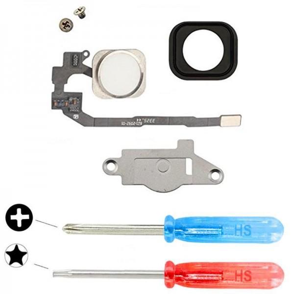 MMOBIEL Home Button voor iPhone 5S (WIT) - inclusief Reparatie Tools