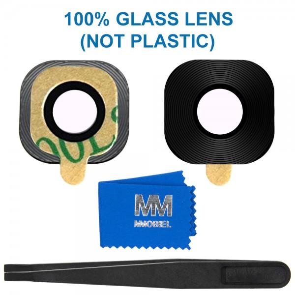 MMOBIEL Glas Lens Back Camera voor Samsung Galaxy S7 G930 / S7 Edge G935 (ZWART) - inclusief Pincet en Doekje