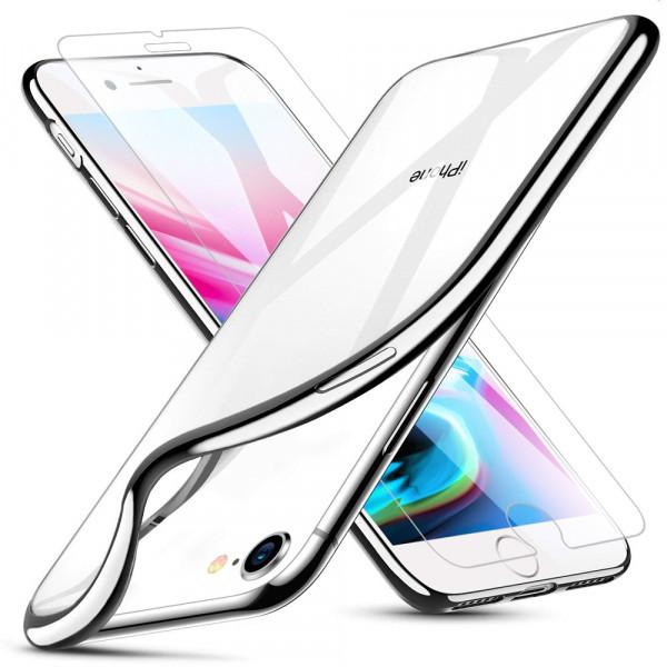 MMOBIEL Screenprotector en Siliconen TPU Beschermhoes voor iPhone SE (2020) / 8 / 7 - 4.7 inch 2017