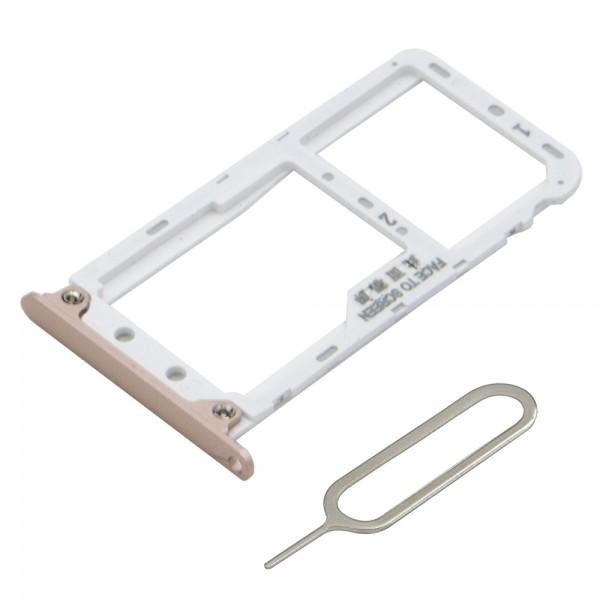 Dual Sim card Tray Slot for Xiaomi Redmi Note 5 - 5.99 Inch incl. Sim Pin (Gold)