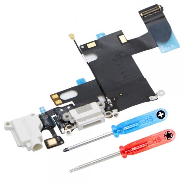Dock Connector für iPhone 5 (WEISS) Ladebuchse Ladeport + Werkzeug