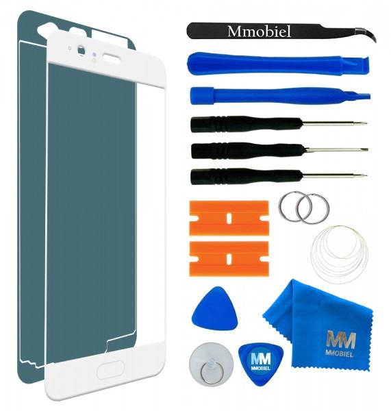 Front Glas Reparatur Set für Huawei P10 (WEISS) Display+Werkzeug