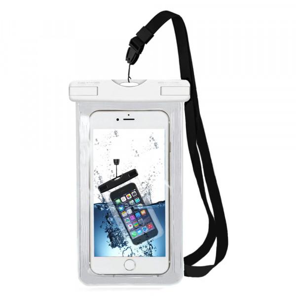 MMOBIEL Waterdichte Telefoon Hoes (WIT) - Waterproof Bag - Case - Pouch - Universeel - Geschikt voor Alle Smartphones - tot 6 Inch - Volledig Transparant