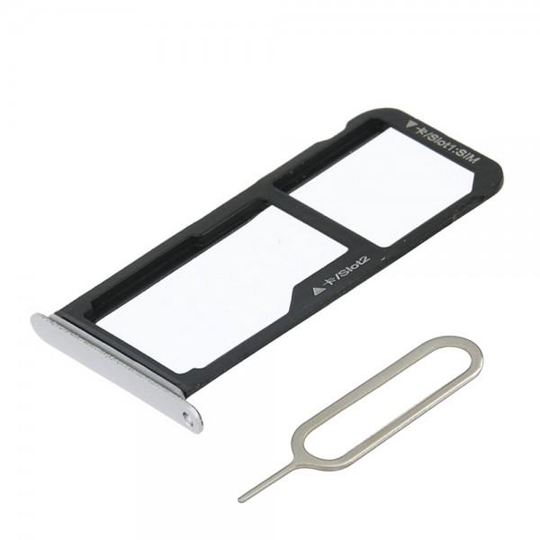SIM/SD Karte Schlitten Tray für Huawei P10 Lite (PEARL WHITE) inkl. SIM Pin
