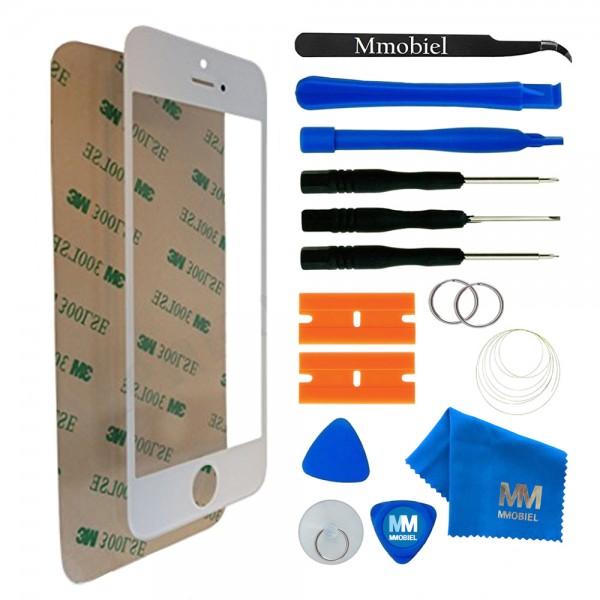 Front Glas Reparatur Set für iPhone 5/5C/5S/SE (WEIß) Display+Werkzeug