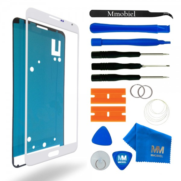 Front Glas Reparatur Set für Samsung Galaxy Note 3 (WEISS) Display+Werkzeug