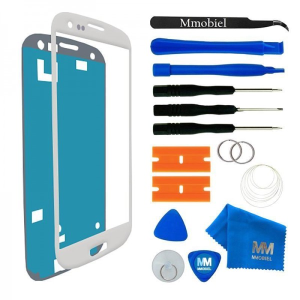 Front Glass for Samsung Galaxy S3 - S3 Neo (White) Display incl. Toolkit