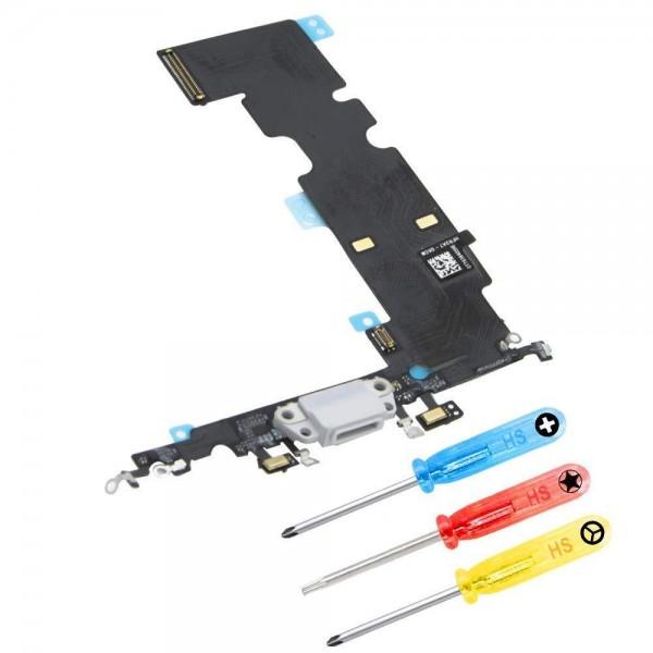 Dock Connector für iPhone 8 Plus (WEISS) Ladebuchse Ladeport + Werkzeug
