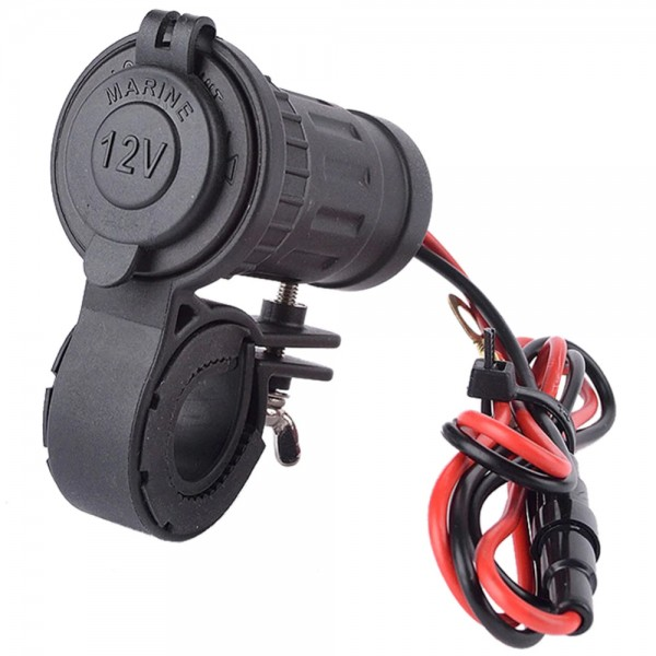 Universal Waterproof Motorcycle Cigarette Lighter Charger incl. Connection Kit