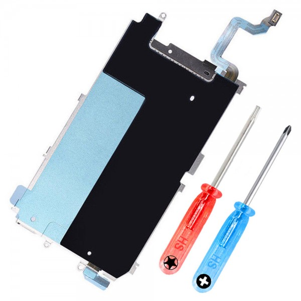 LCD Metal Back Plate for iPhone 6 with Heat Shield + Home Button incl. Toolkit