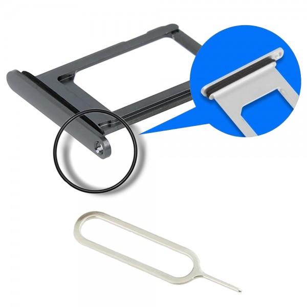 MMOBIEL Sim Tray Kaart Houder Nano Slot voor iPhone XS Max (SPACE GREY / ZWART)