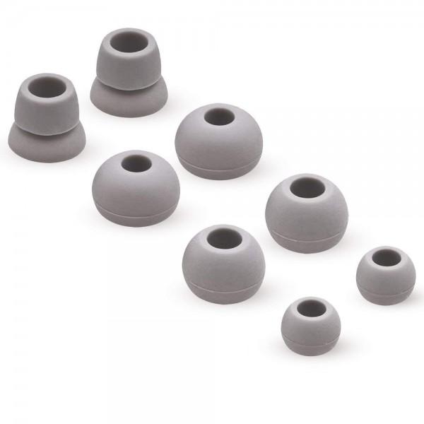 MMOBIEL Siliconen Oordopjes Set voor Powerbeats 2 / 3 Wireless (GRIJS) Hoofdtelefoon 4 Paar