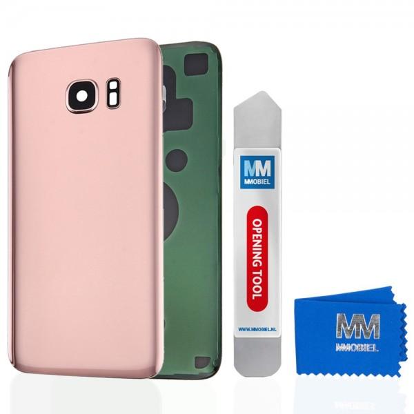 Akkudeckel mit Linse für Samsung Galaxy S7 Edge G935 (PINK GOLD) Backcover
