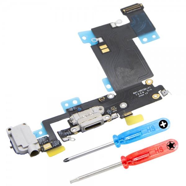 Dock Connector für iPhone 6S Plus (SCHWARZ) Ladebuchse Ladeport + Werkzeug