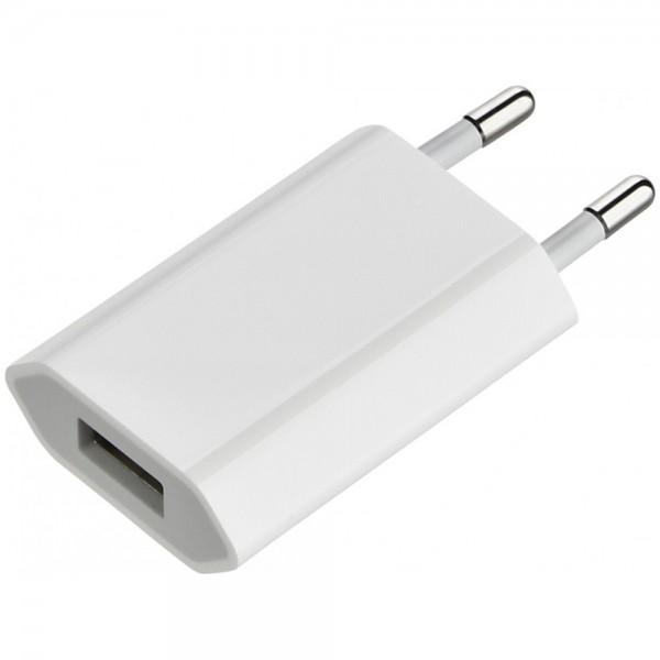 USB adapter (WEISS) Ladeadapter Ladegerät USB auf Stecker Netzteil Netzlader