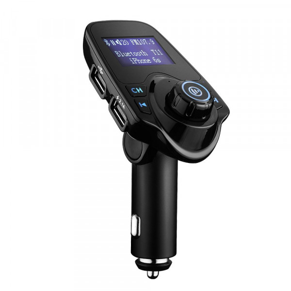 MMOBIEL Bluetooth FM Transmitter - 120 Graden Rotatie - Auto Radio Adapter Carkit - 5 in 1 met 4 Music Play Modes - Hands-free Bellen - TF Kaart - USB Auto Lader - USB Flash Drive - AUX Input Output - 1.44 inch LCD Display