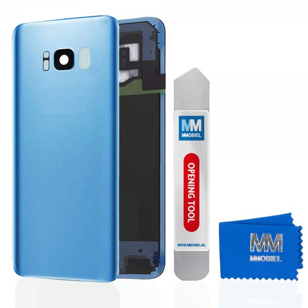 Akkudeckel mit Linse für Samsung Galaxy S8 Plus G955 (BLAU) Backcover