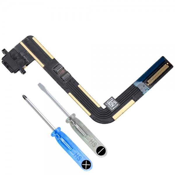 Dock Connector für iPad 6 2018 6. Generation (SCHWARZ) Ladebuchse + Werkzeug