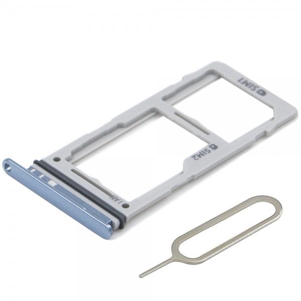 Dual SIM Karte Halter Tray Schlitten für Samsung Galaxy S10 / S10 Plus (BLAU)