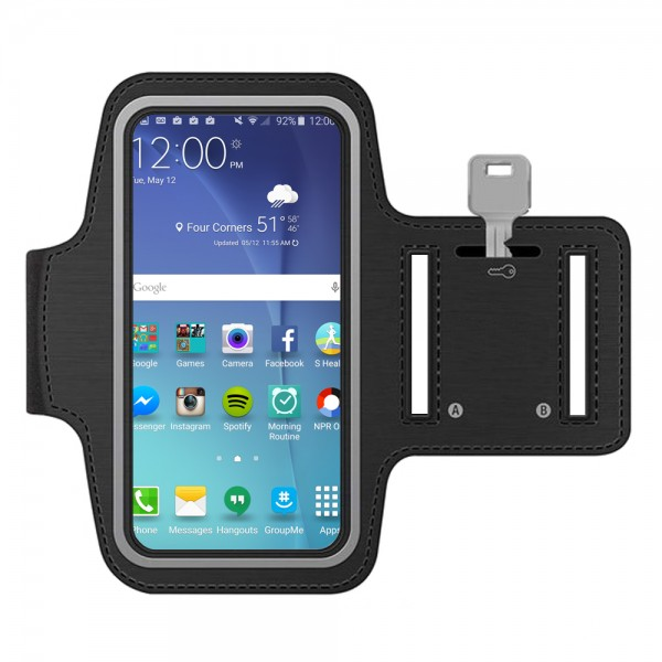 Sportband für Samsung S10 + / S9 + / S8 + / S7 Edge / Note 9 / J7 (SCHWARZ)