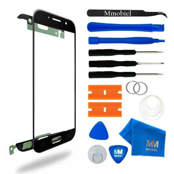 Front Glass for Samsung Galaxy A5 A520 (Black) Display Touchscreen incl. Toolkit