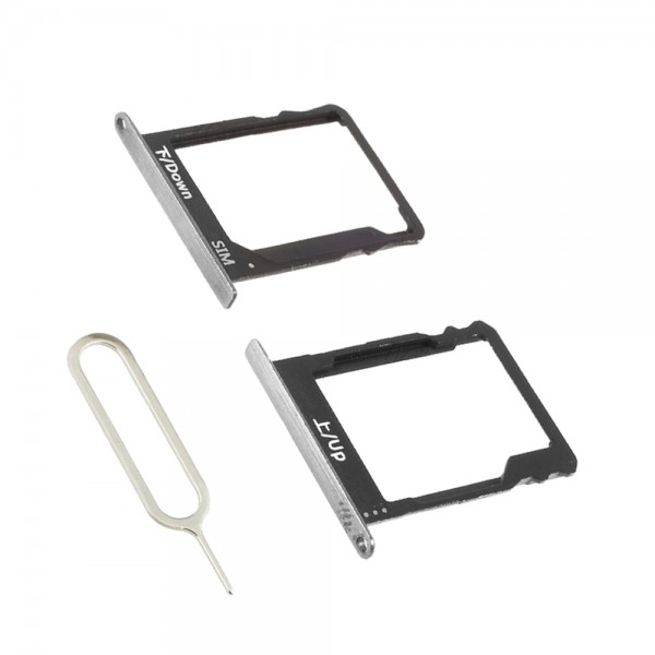 SIM+ SD Card Tray Slot for Huawei P8 Lite 2016 (Black) incl. Sim Pin