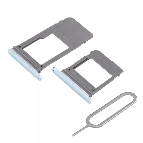 SIM / SD Karte Set 2 Schlitten Tray für Samsung Galaxy A5 / A7 2017 (BLAU)
