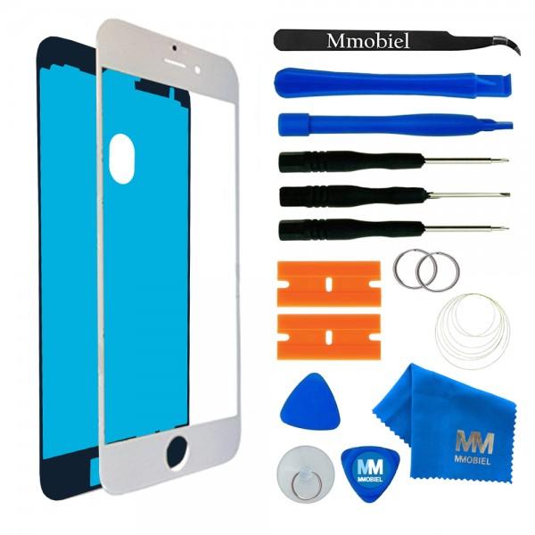 Front Glas Reparatur Set für iPhone 7 (WEISS) Display+Werkzeug