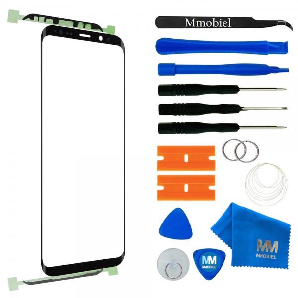 Front Glas Reparatur Set für Samsung Galaxy S9 (SCHWARZ) Display+Werkzeug