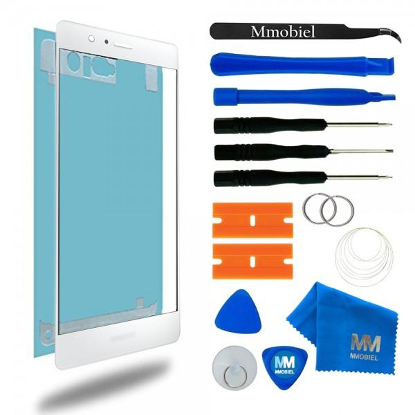 Front Glas Reparatur Set für Huawei P9 (WEISS) Display+Werkzeug
