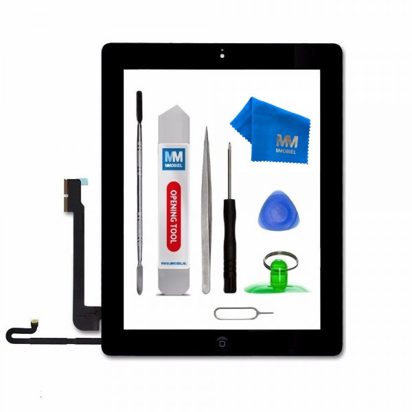 Digitizer Display Glas für iPad 4 (SCHWARZ) 9.7 inch Touchscreen + Werkzeug